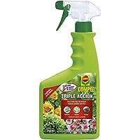 Compo Triple Acción Protección contra Insectos, Hongos y ácaros, para Plantas de Interior y Exterior, Resultados en 24h…