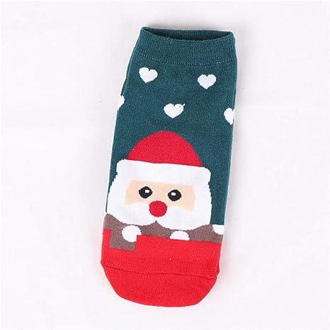 Liuxc Calcetines Navidad Claus Calcetines Mujer Algodón Corto Calcetines de Invierno Hombre de Nieve Calcetines Lindos