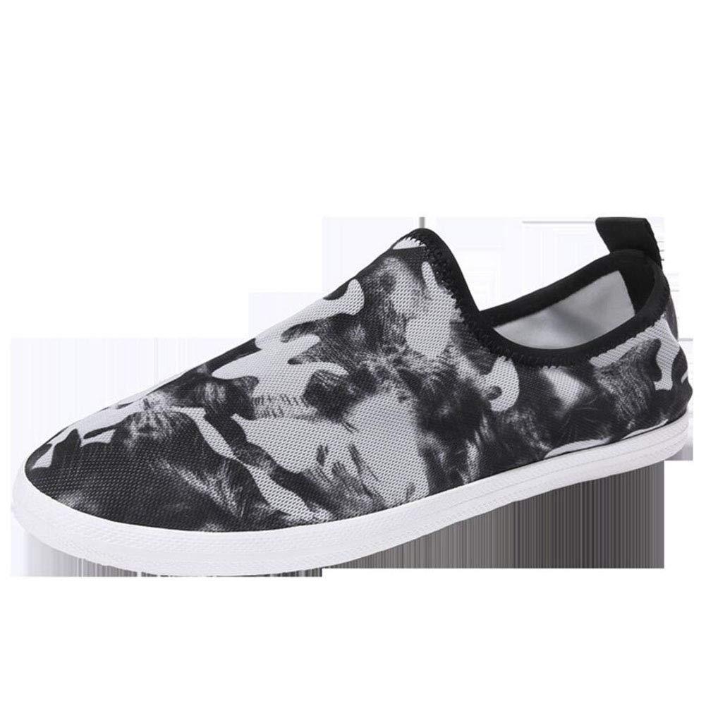 Zapatos Casuales para Hombres, Bottom de Cuero con Parte Baja Superior Zapatos de Lona/Cómodo Mocasines y Slip-on Respirables Zapatos Perezosos/Zapatos para Caminar/Zapatos de Ciclismo