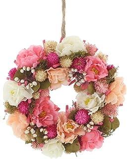 Lianle Dekoration Kranz Herz Form Künstlich Rose Blumen Türkranz Als