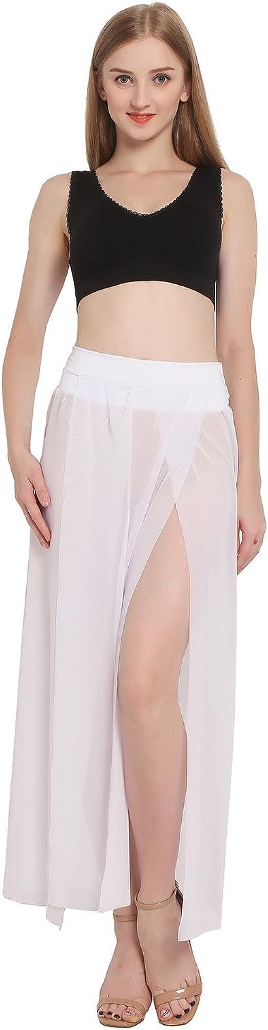 JAKY Pareo para mujer Playa falda de hendidura lateral Maxi ...