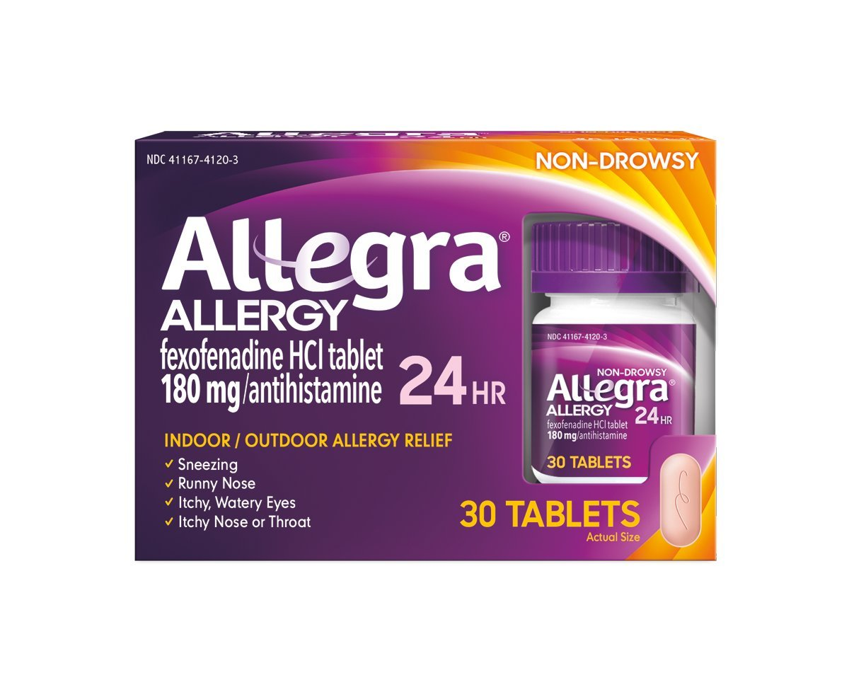 Allegra Adult 24 Hour Allergy Relief 30 Tablets, Long-Lasting Fast-Acting  Antihistamine for Noticeable Relief from Indoor and Outdoor Allergy Symptoms