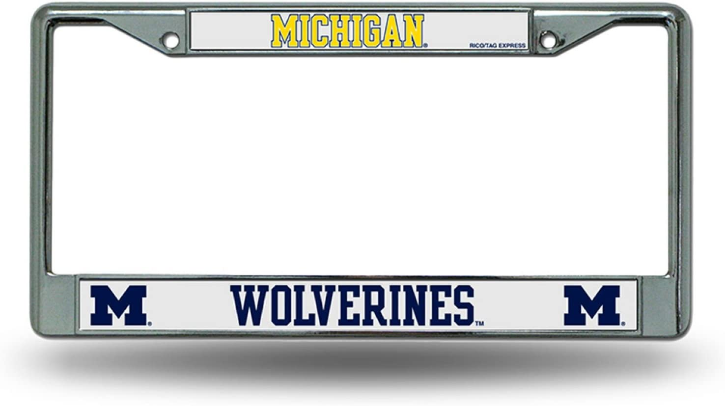 New Auto Car Truck Chrome Michigan Wolverines Metal License Plate Frame