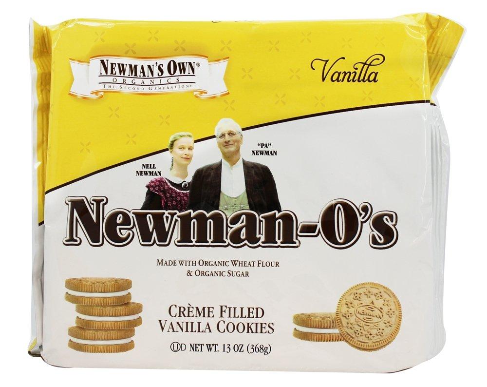 Newman's Own Organics - Newman's O's Creme Filled Vanilla Cookies Vanilla - 8 oz. (pack of 2)