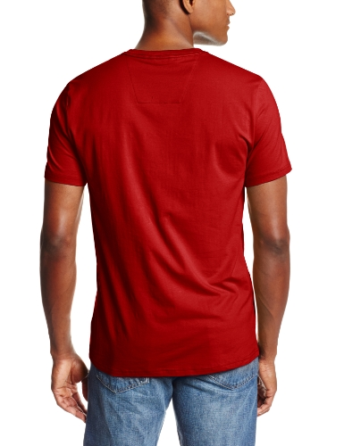 Nautica Men's Cotton Stretch V Neck Tee, Red, Medium