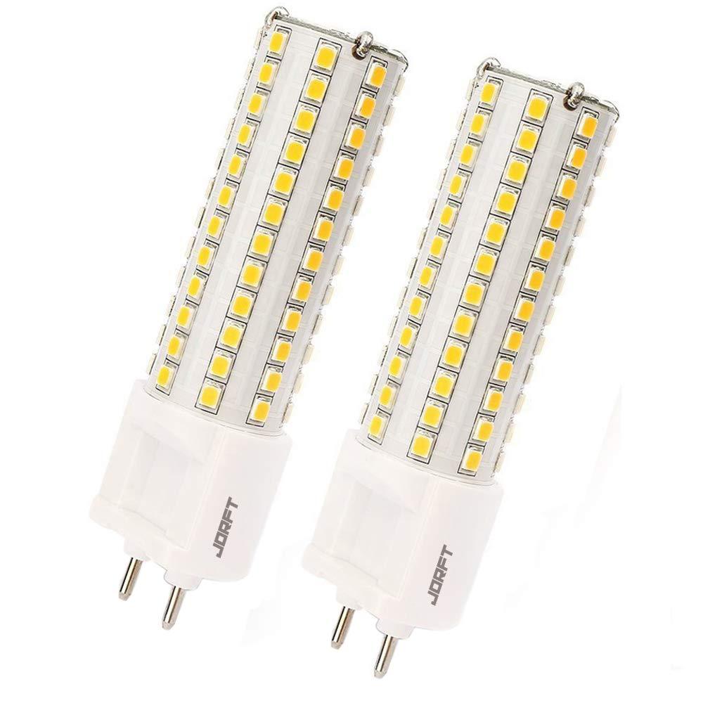 Jorft 2pcs G12 10W 108 LED bulbo del maíz, 100W bombillas halógenas equivalentes, ángulo de haz de 360 grados 3000K cálido blanco AC85-265V: Amazon.es: ...