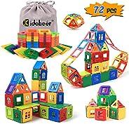 KIDCHEER Magnetic Blocks Building Toys for Kids, Magnetic Tiles STEM Kit Educational Stacking Blocks Toys for