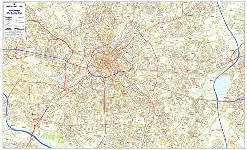 Postcode City Sector Maps 8 Manchester Paper