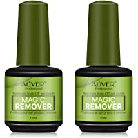 2 Pack Magic Nail Polish Remover Professional Removes Soak-Off Gel Nail Polish In 3-5 Minutes, Easily & Quickly,Don't Hurt Your Nails, No Grind and Painless New technical Nail Remove Revolution.