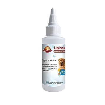 Uploria Pet World Pulgas para Mascotas en Spray para Perros y Gatos, Tratamiento de ácaros