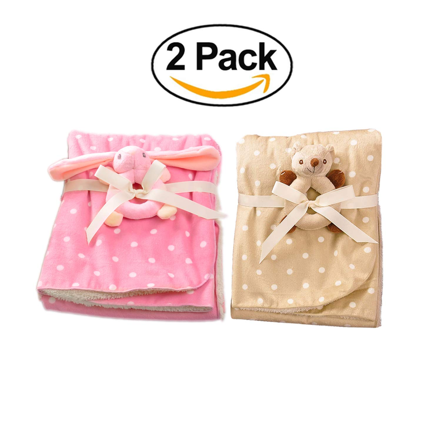 Product Choices Luxury Baby Blanket   Extremely Soft and Fluffy   Includes 2 Toys   Perfect for Infant, Toddler or Children   Premium Quality   2 Gorgeous Blankets  