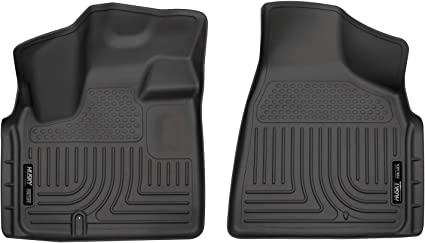Nylon Carpet Black Coverking Custom Fit Front Floor Mats for Select Chrysler Town and Country Models
