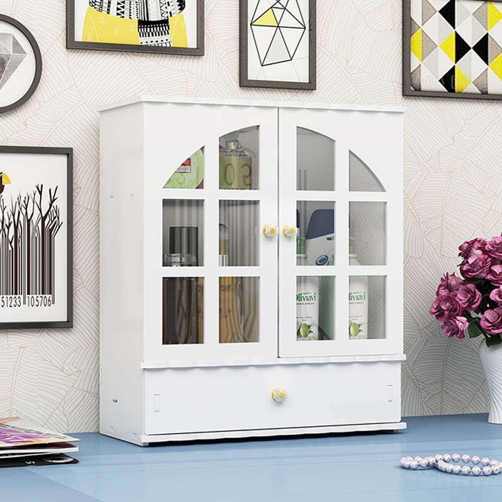 Bycws Baño Gabinete de pared Gabinete de pared de 2 puertas en madera blanca Montaje en superficie Gabinete de medicina Organizador de gabinete de almacenamiento Tipo de cajón a prueba de polvo: