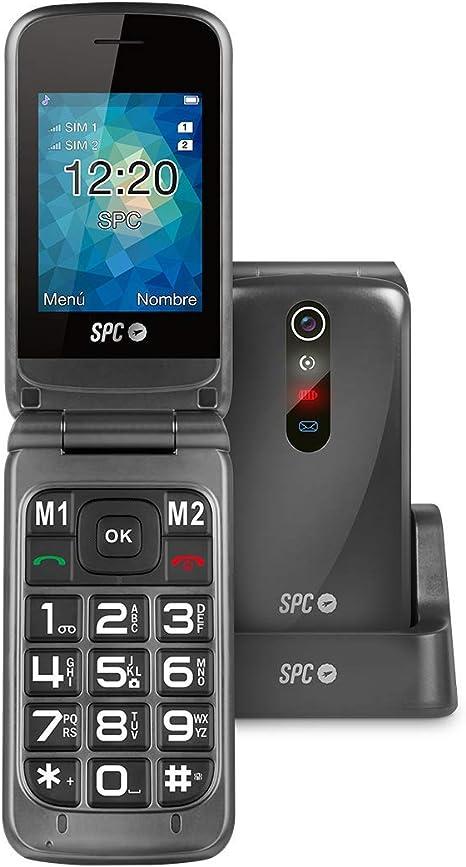 Spc Stella Teléfono Móvil con Números y Letras Grandes, Titanio ...