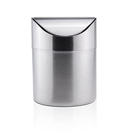 Amazoncom M Sanmersen Mini Trash Can For Desk With Lid Desktop
