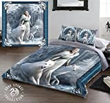 WINTER GUARDIANS Duvet & Pillows Case Covers Set for Queensize Bed Artwork By Anne Stokes