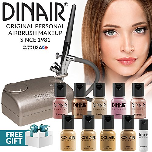 Foundation Deluxe Dinair Airbrush Makeup Kit Personal Pro | Medium Shades
