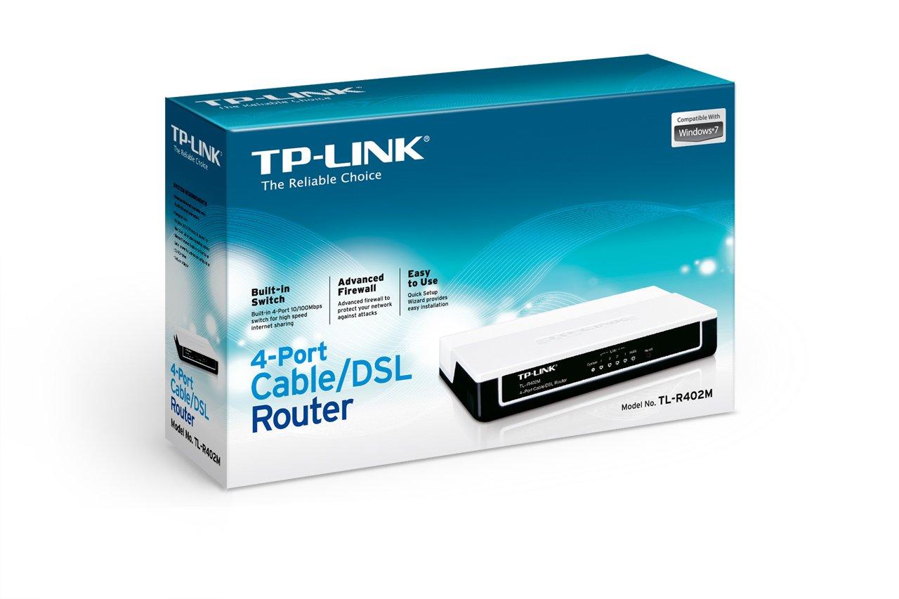 Amazon.com: TP-LINK TL-R402M 4-Port Cable/DSL home Router, 1 WAN ...