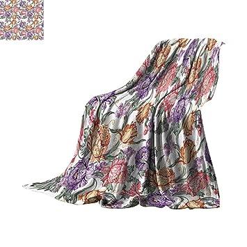 Amazon.com: Manta personalizable con diseño de flores y ...