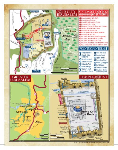 The Israel LAP MAP for the Christian Traveler by Inspiration Israel (Image #1)
