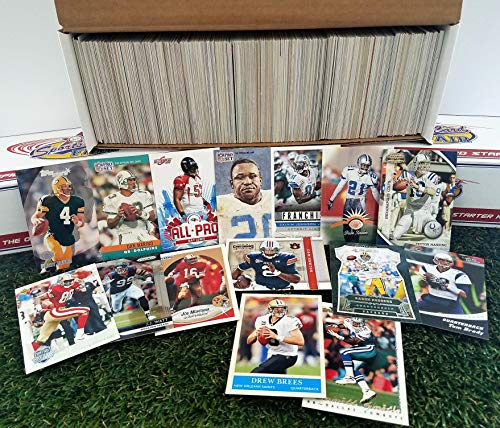 (600 card Jumbo lot of Football cards Starter kit with Guaranteed Superstars -1970's to present. Comes in Custom Souvenir Box- Great gift for the 1st time collectors! THANK YOU OVER 2,000 SOLD by 3bros)
