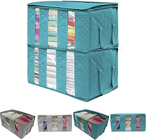 RIBITENS Clothes Blankets Storage Bag Organizer Box Dust-proof Pouch Home Wardrobe Organizer Space Saver Bags