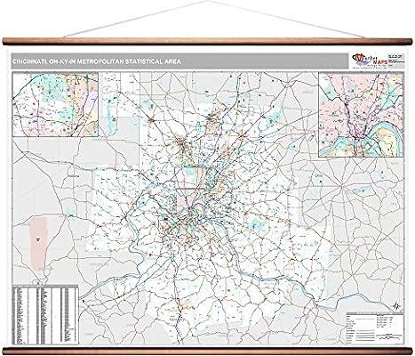 Amazon.com: MarketMAPS Cincinnati, OH Metro Area Wall Map ...
