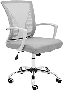 Modern Home Zuna Mid-Back Office Chair - White/Gray