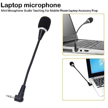 NoyoKere Mini micrófono portátil Micrófono de Solapa Capacitivo ...