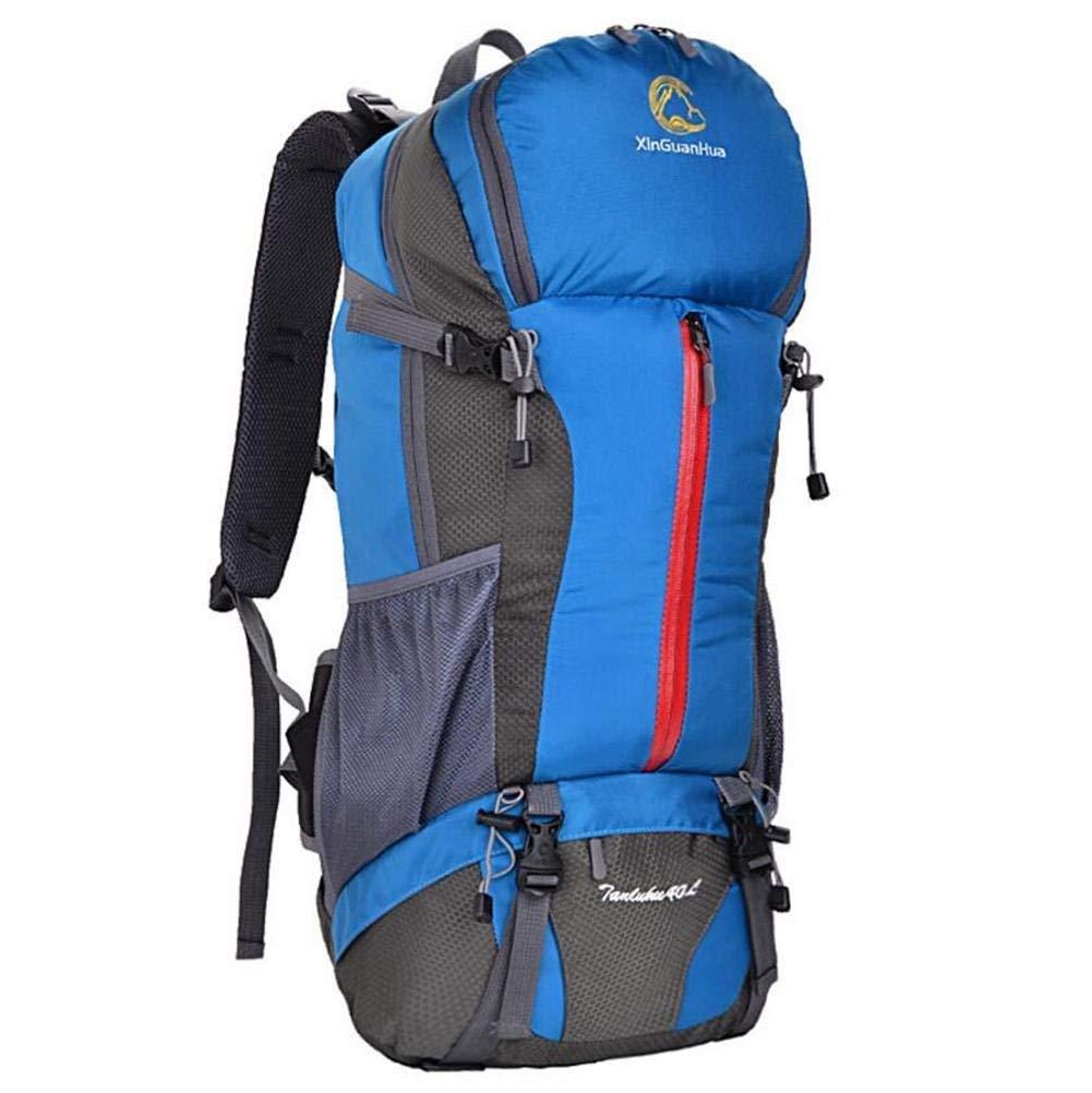 Eeayyygch Bergsteigenbeutel-Schulterbeutelreise 40L, der kampierenden Fachmann der großen Kapazität wandert (Farbe : Blau)