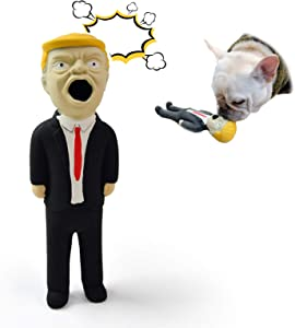 Natural Rubber Trump Toy - Screaming Trump - Squeeze Dog Toy Crazy Realistic & Funny Rubber - Prank Novelty Gadget Super Durable & Interactive for Pets or Kids