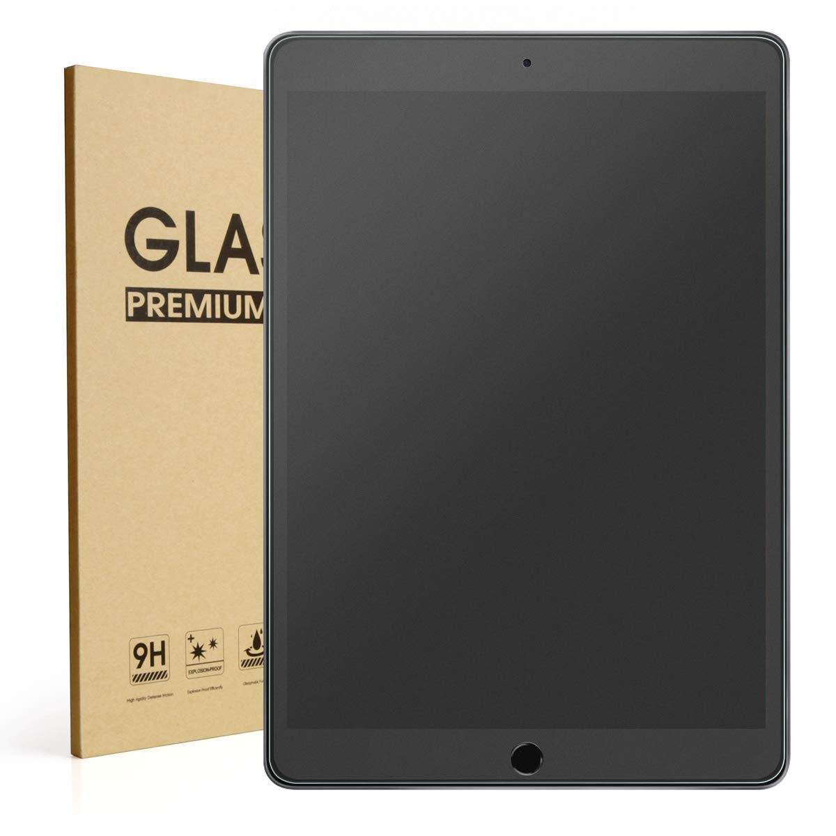 """Mothca Matte Screen Protector for iPad 10.2"""" (7th Gen)(2019), Anti-Glare & Anti-Fingerprint No Dazzling 9H Hardness HD Tempered Glass Shield Film, Smooth as Silk Amazing Touch"""