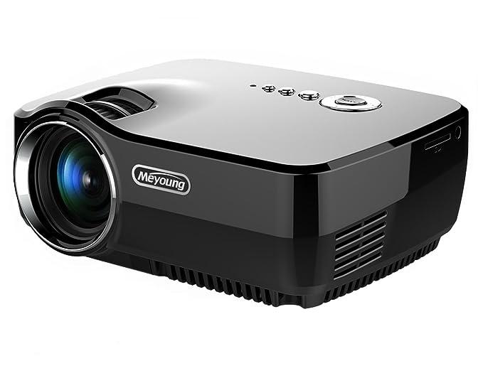 48 opinioni per HD Mini proiettore portatile, Meyoung Pico Proiettore GP70 LED a colori 150