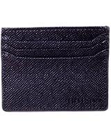 Leather Slim Wallet Premium Black Mens Minimalist Front Pocket Card Case Holder