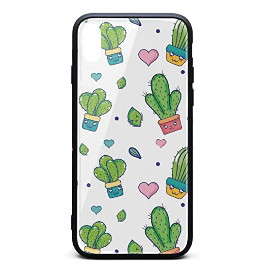 9e19740827e Image Unavailable. Image not available for. Color  Green Natural Cactus  Plant House Phone Case for iPhone X XSTPU ...