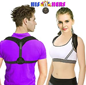 Back Brace Posture Correction Shoulder Support for Men Corrective Posture Brace Posture Corrector for Women, Upper Back Brace for Clavicle Support Shoulder Support for Men Corrective Posture Brace