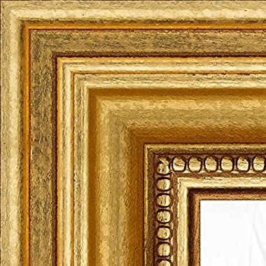 ArtToFrames 18x27 inch Gold Wood Picture Frame, 2WOM80801-GLD-18x27
