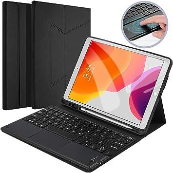 Con Touchpad】Funda Teclado Tablet para iPad 10.2 2019 ...