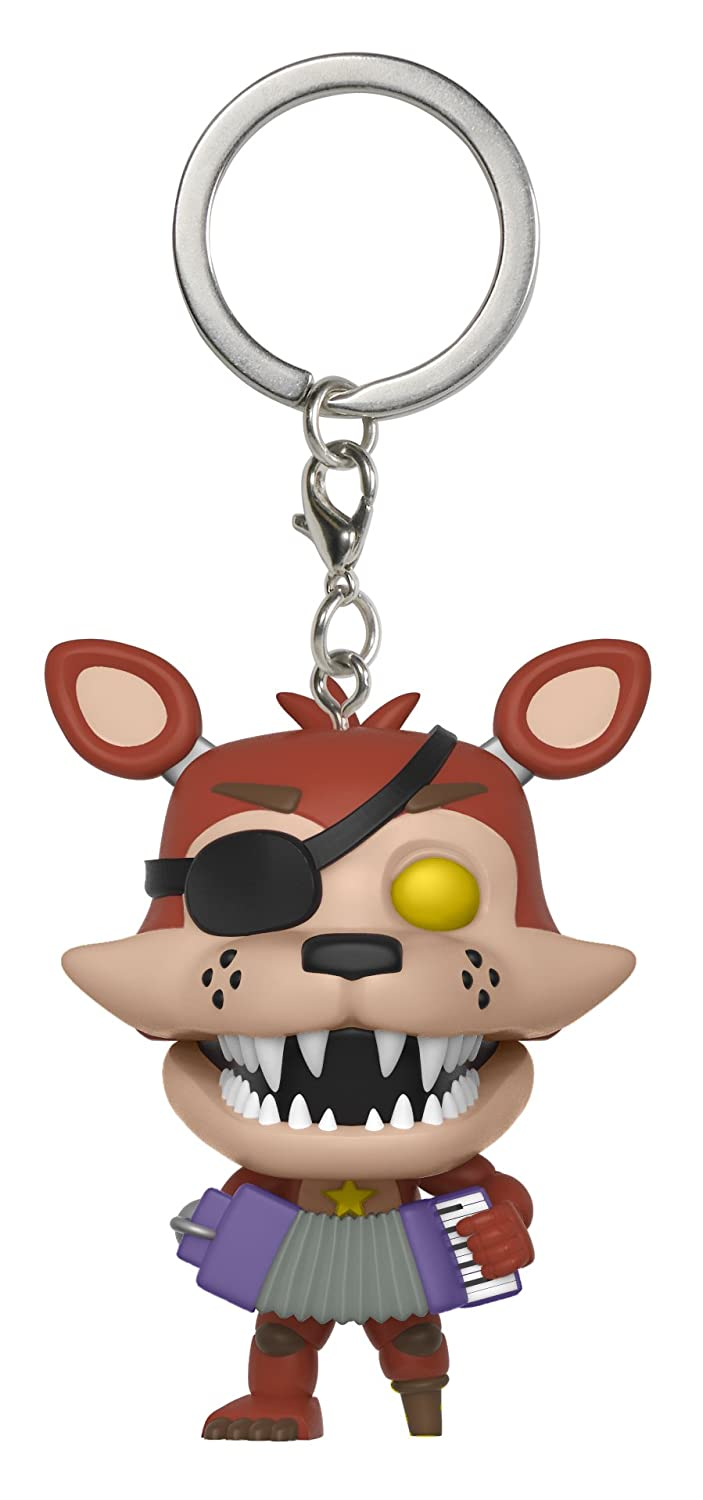 Funko Pop Keychain: Five Nights at Freddys Pizza Simulator - Rockstar Foxy Collectible Figure, Multicolor