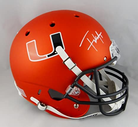 Amazon.com  Frank Gore Autographed Miami Hurricanes F S Orange Helmet -  Beckett Auth  White - Beckett Authentication  Sports Collectibles 67d9ff7aa