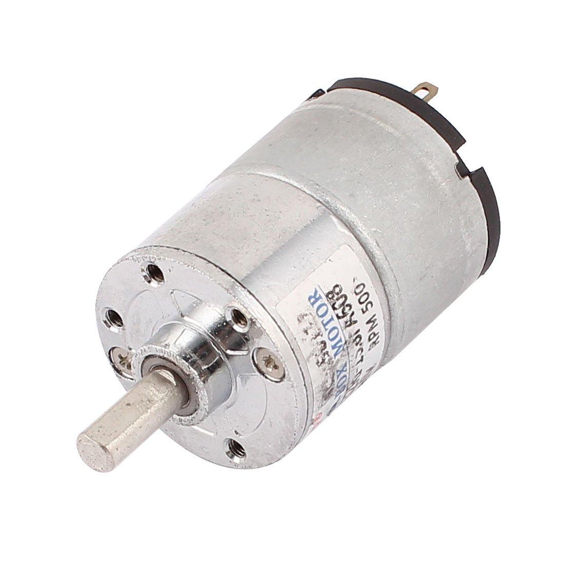 sourcingmap DC 12V 400-500RPM el/éctrico de gran alcance del esfuerzo de torsi/ón del motor Caja de engranajes