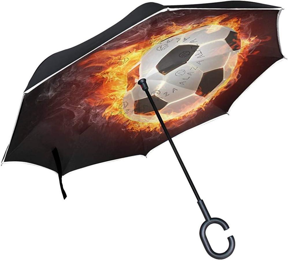 Mike-Shop Balón de fútbol de fútbol con Llama de Fuego Paraguas ...