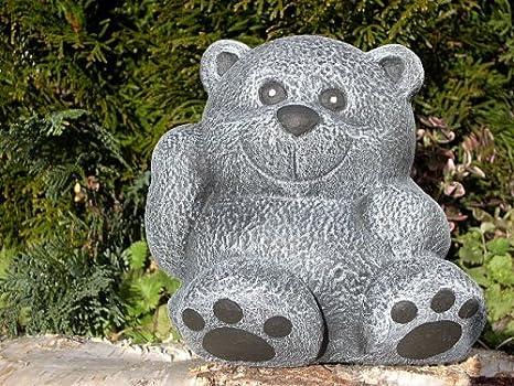 piedra Figura oso de piedra pizarra gris: Amazon.es: Jardín