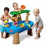 Step2 Tropical Rainforest Water Table | Colorful Kids Water Play Table with 13-Pc Accessory Set, Green & Blue