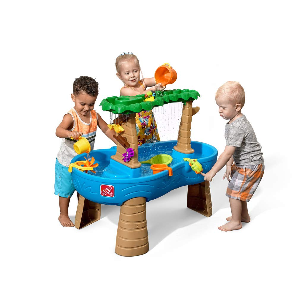 Step2 Tropical Rainforest Water Table | Colorful Kids Water Play Table with 13-Pc Accessory Set by Step2