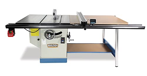 Baileigh TS-1248P-52 Professional Cabinet Style Table Saw, Single Phase, 48 x 30 Table, 52 Max Rip Cut, 5 hp, 220V, 12