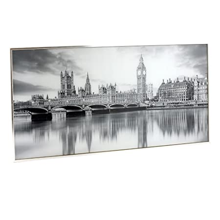 Leonardo Collection Glitter London Wall Art, Black/White