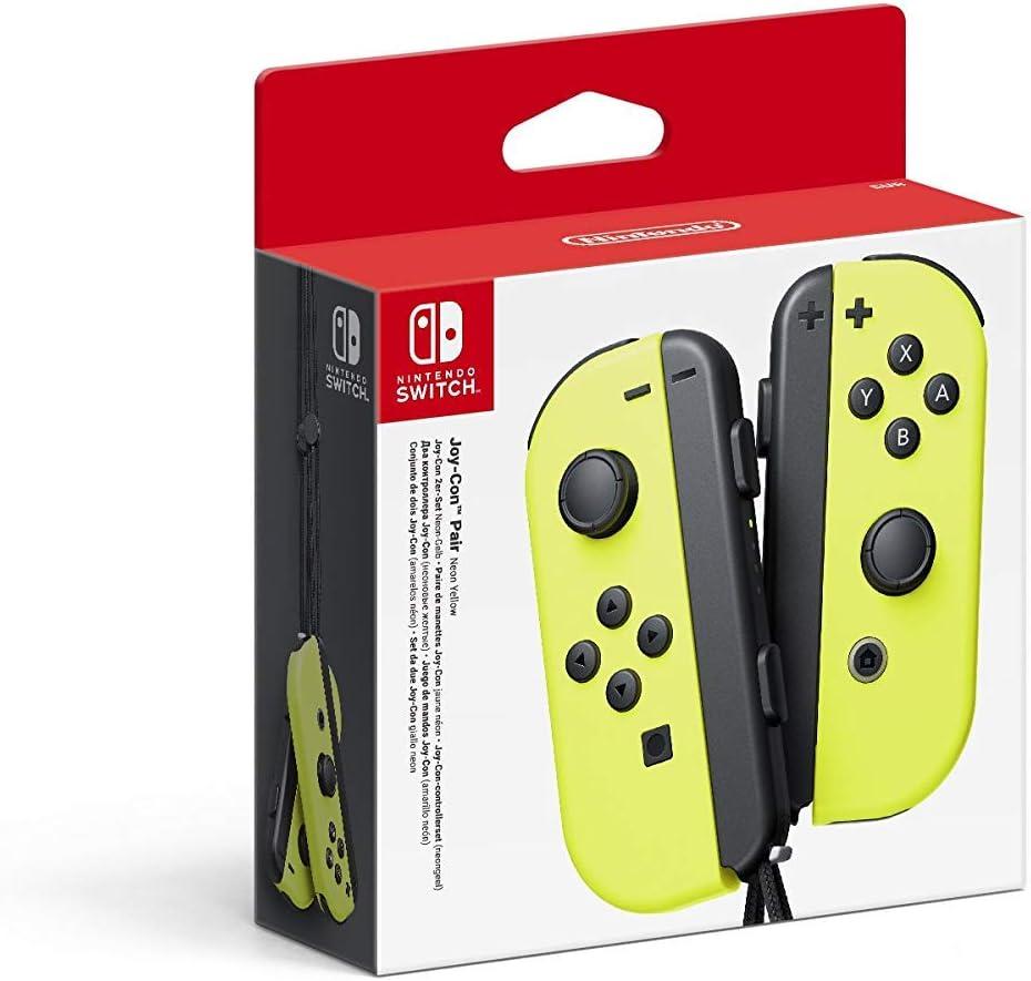Nintendo - Set De Dos Mandos Joy-Con Izquierda Y Derecha, Color Amarillo Neón (Nintendo Switch)