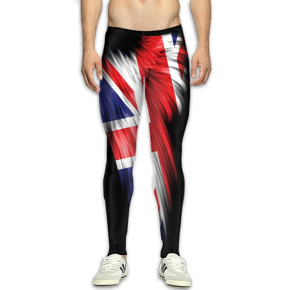 Nollm Wings of The British Flag Compression Men's Gym Training Pants 3D Print Fitness