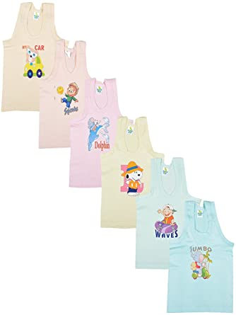 045a3a976 Kuchipoo Unisex Regular Fit Cotton Vest (Pack of 6)  Amazon.in ...